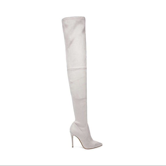 abf0891a052 Steve madden grey dominique thigh high boot. M 5ac04345a6e3ea8dffe75dd7